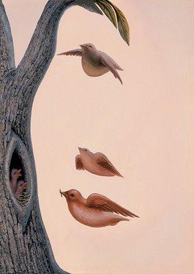 Octavio Ocampo Family of Birds illusion