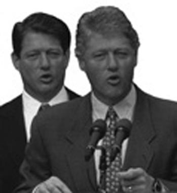 Bill Clinton and Al Gore illusion