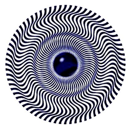 Blue eye spiral wheel illusion