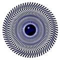 Blue eye spiral wheel illusion thumb