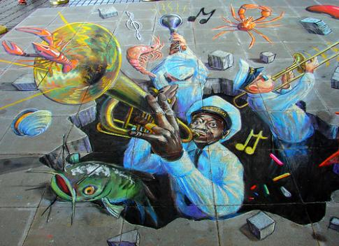 Brass Band Street Art