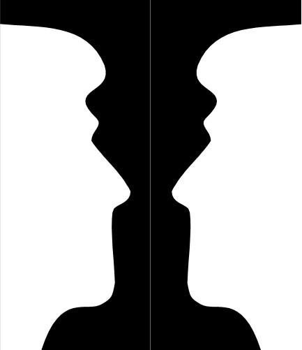 Candlestick or silhouettes illusion