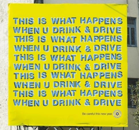 Drink Driving Sign Illusion