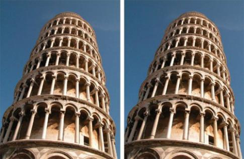 Leaning Tower Illusion