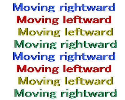Moving text illusion