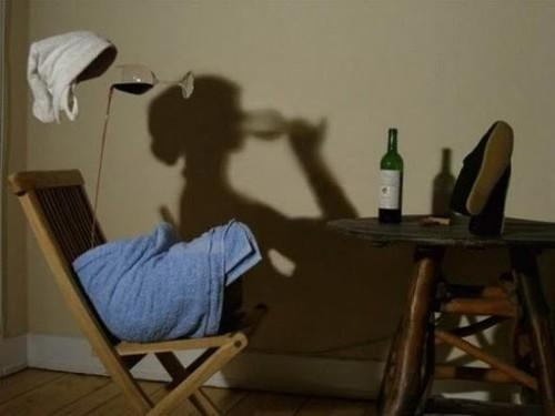 Shadow woman illusion