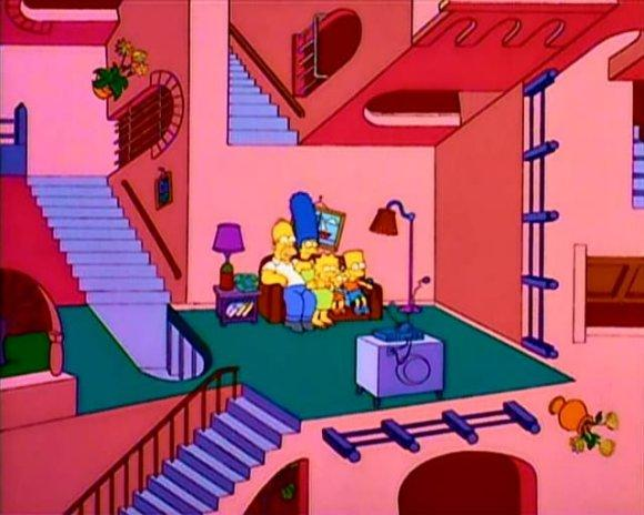 Simpsons Escher