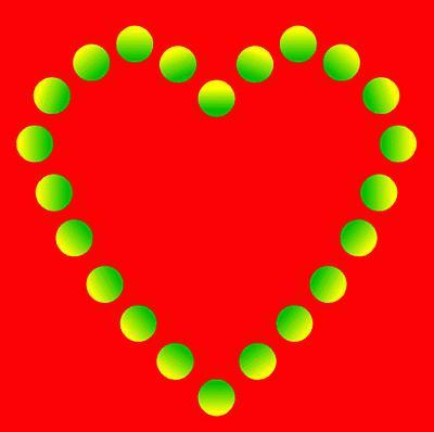 Valentines Day heart illusion