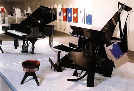 Piano Mirror Illusion by Shigeo Fukuda